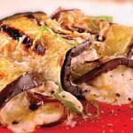 Aubergine cannelloni with ricotta