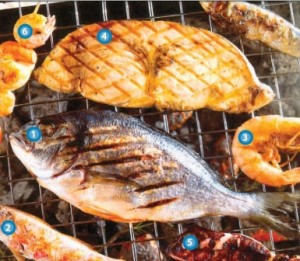Grilling fish on the barbeque
